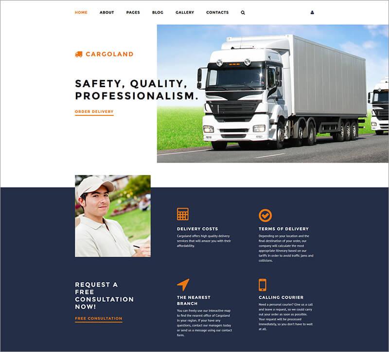 Premium Cargoland Joomla Template