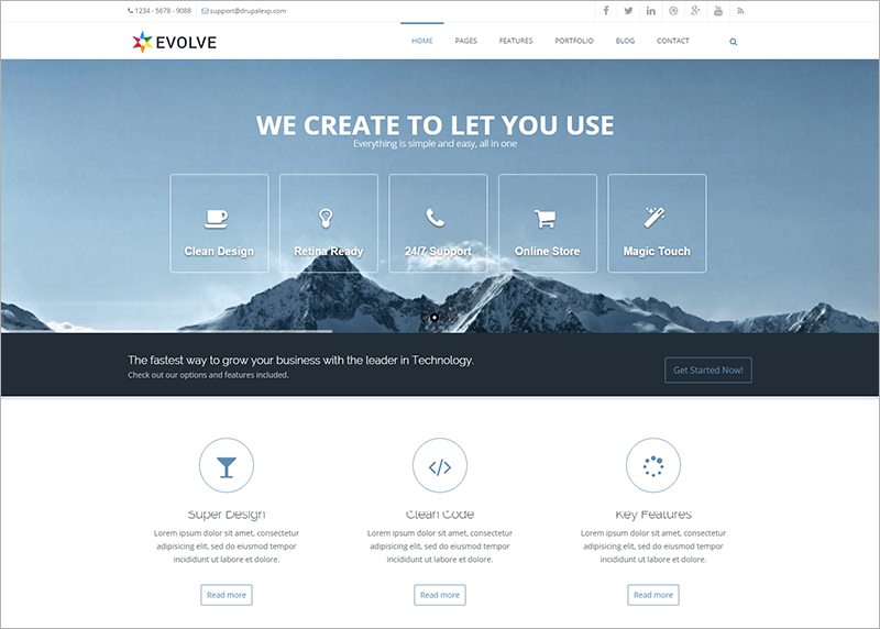 Premium Creative Drupal Theme