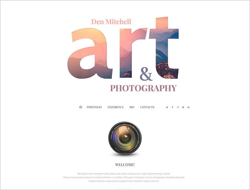 Professional Photographer Blog Template