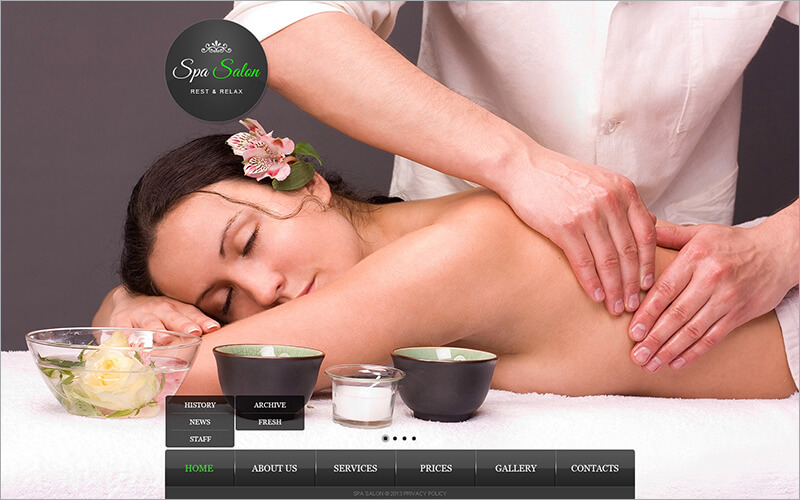 Responsive Beauty Salon Website Template