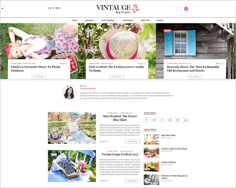 Responsive Blog & Fashion HTML Template