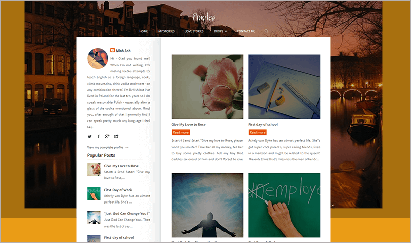 Responsive Blogger Template For Writers
