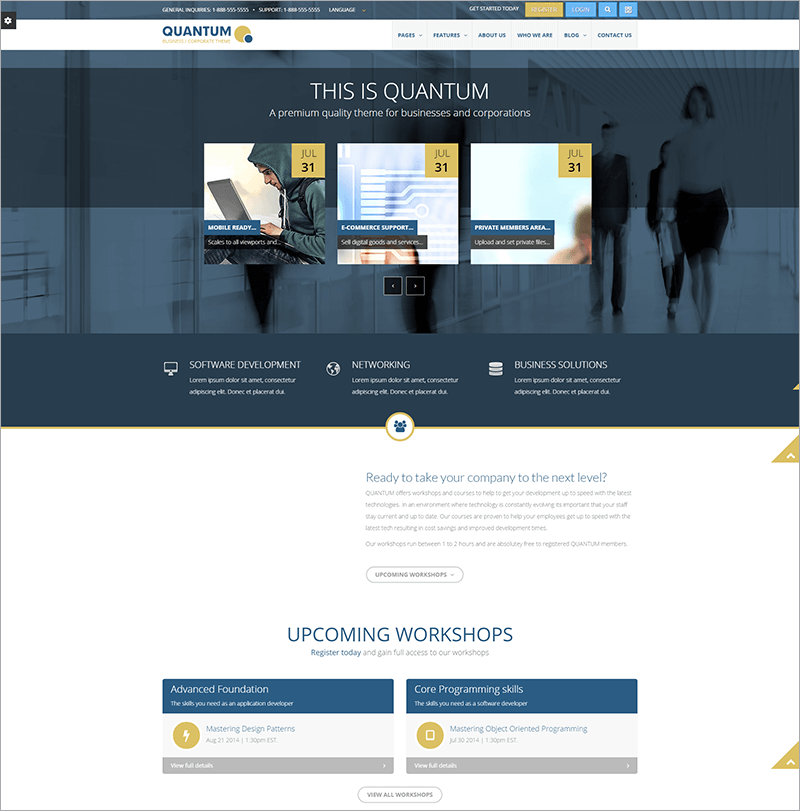 Responsive Business Security WP Theme