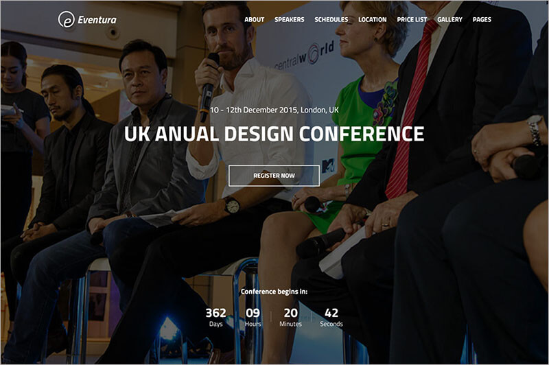 Responsive Event Bootstrap Template