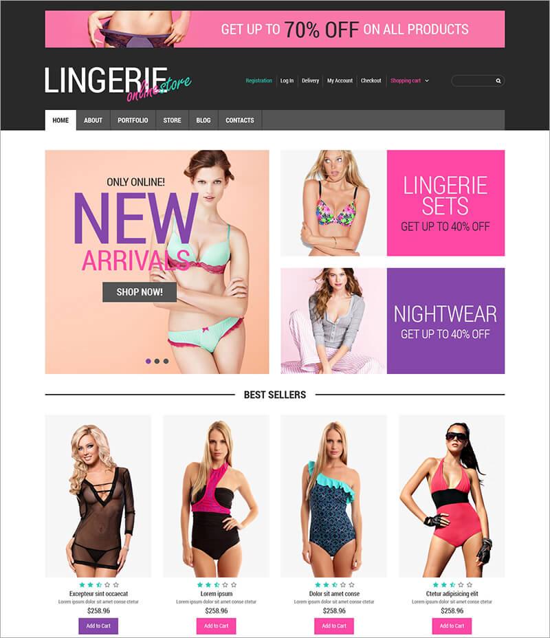 Responsive Feminine Lingerie Blog Theme