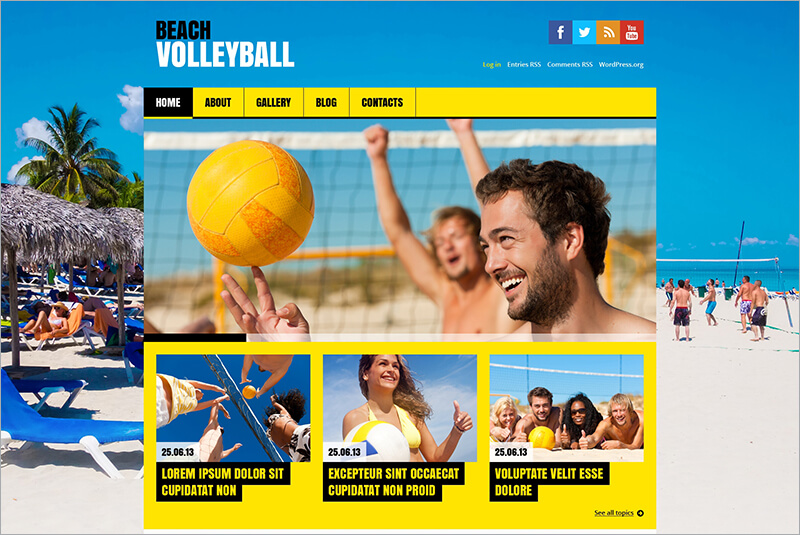 Responsive Flat Volleyball Html Theme