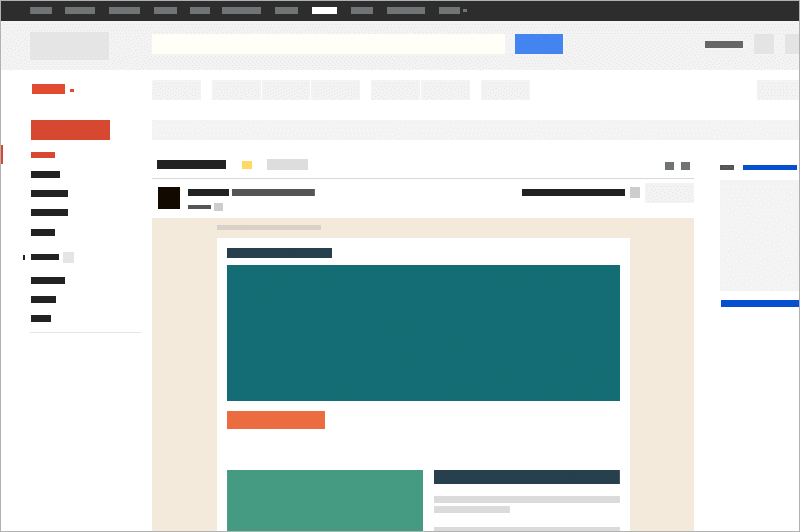 Responsive Gmail Wireframe Template