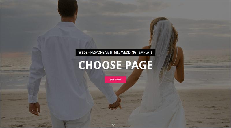Responsive HTML Wedding Template