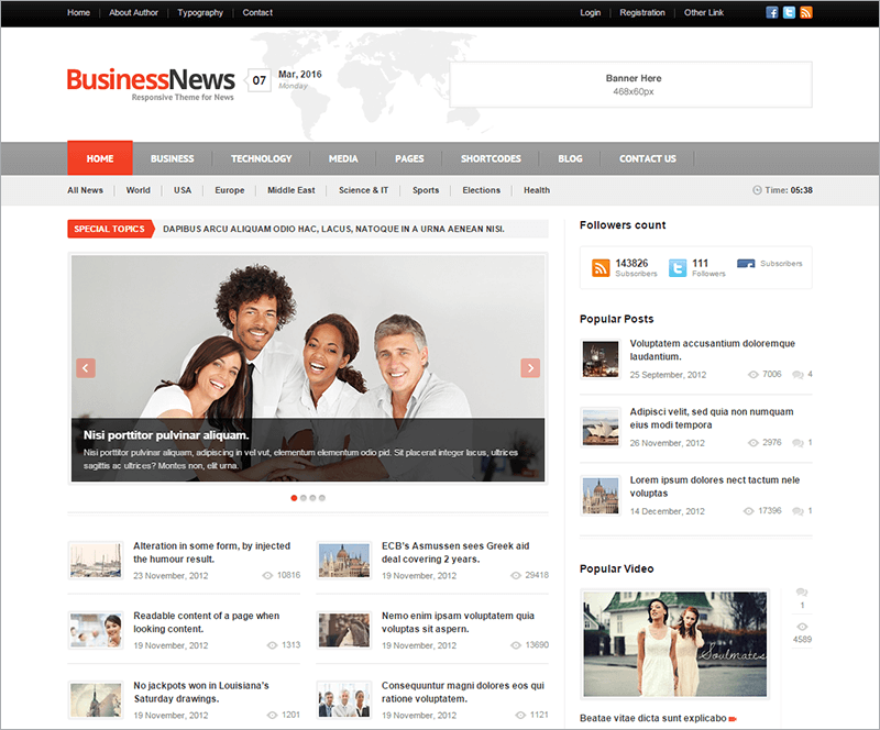20+ News Website Html5 Templates Free & Premium Themes