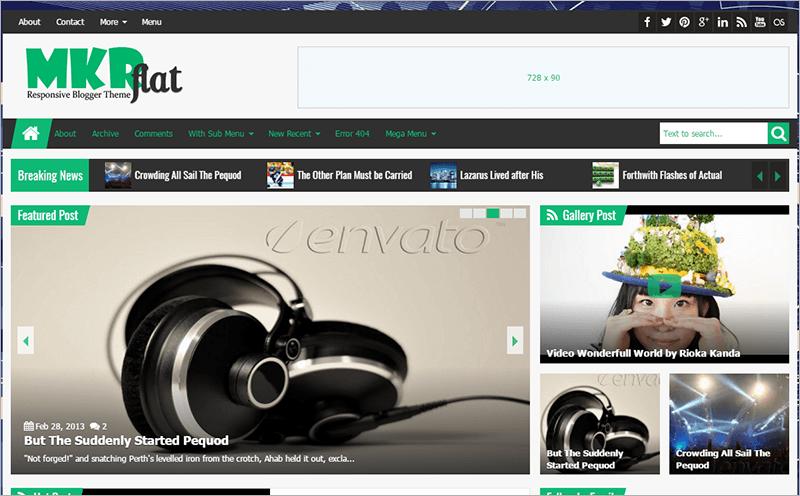 Responsive Magazine News Blogger Theme