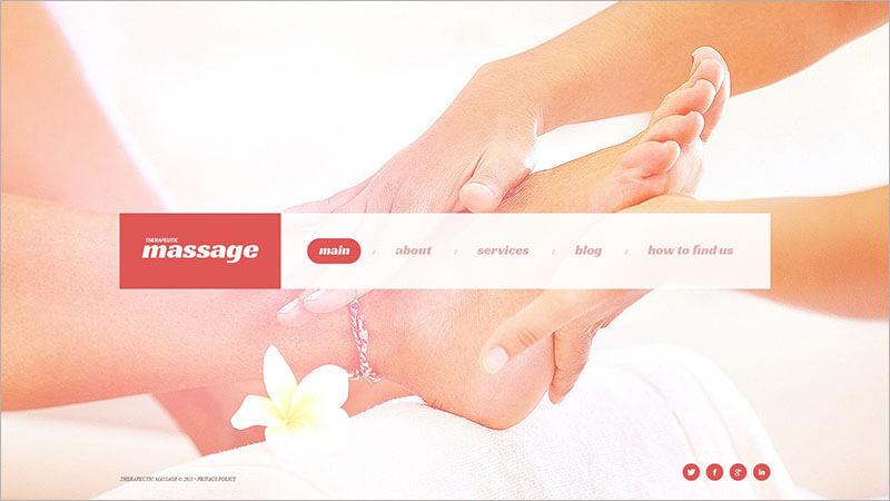 Responsive Massage Salon Website Template