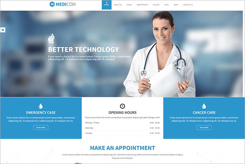Responsive Medical & Health Drupal Theme