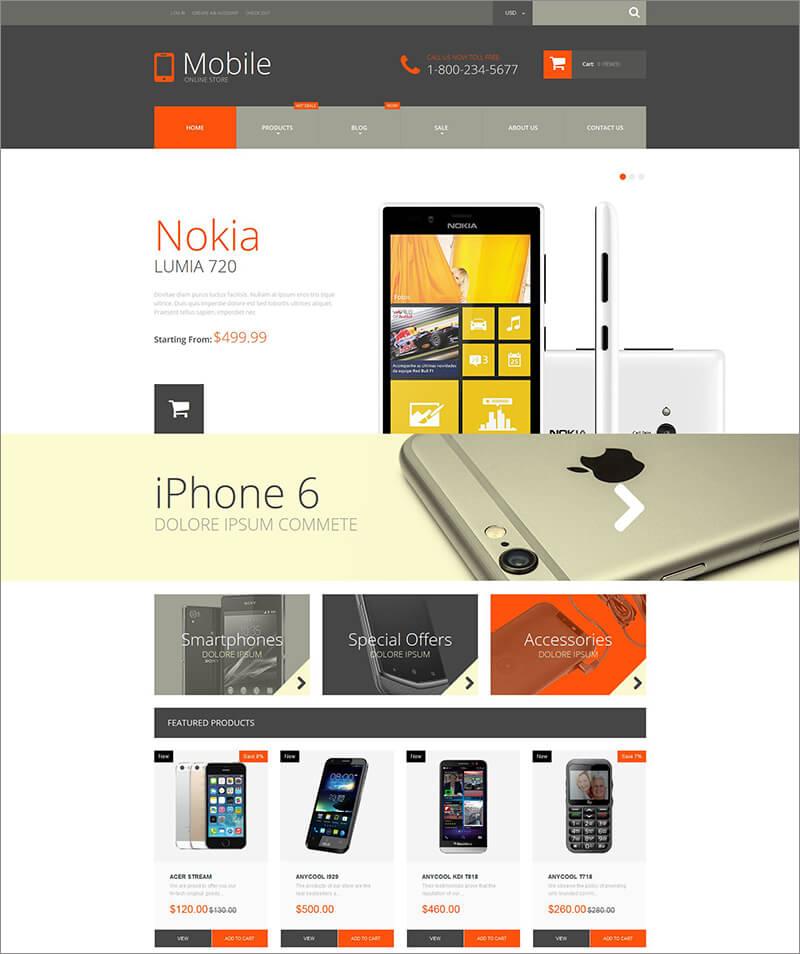Responsive Mobile Phones Shopify Theme