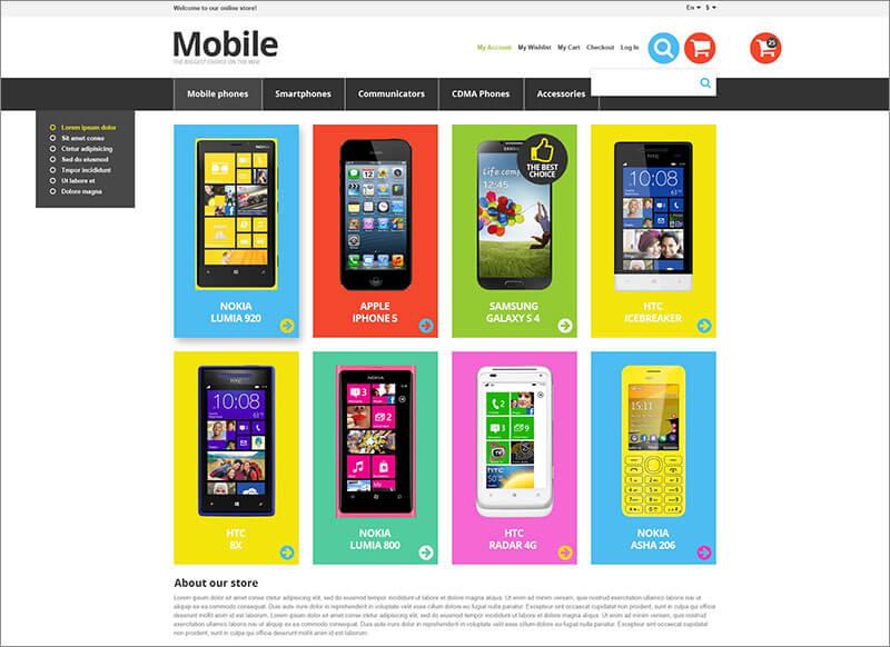 Responsive Mobile Store Magento Theme