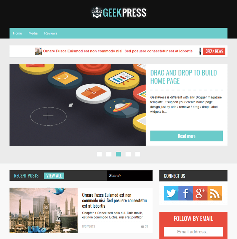 Responsive News & Magazine Template