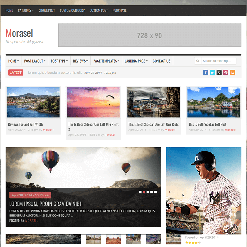 Responsive News and Magazine Html Theme