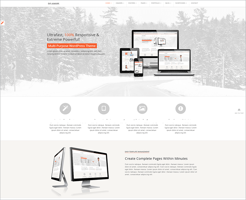 Responsive Retina WordPress Template