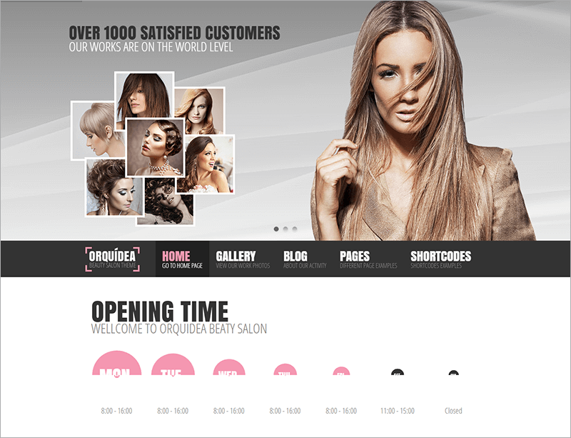 Responsive Salon WordPress Theme