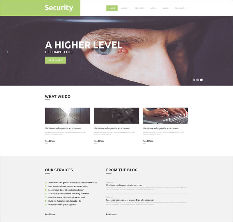 Responsive Security WordPress Theme