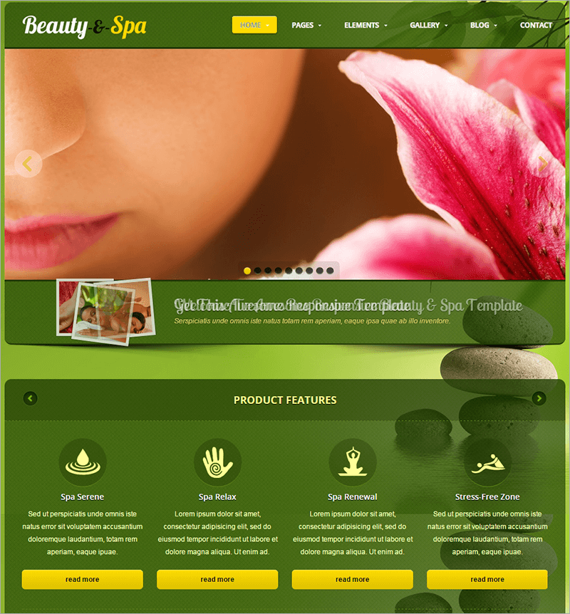 Responsive Spa Website Template