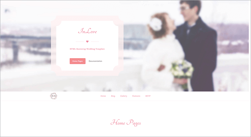 Responsive Wedding HTML Template