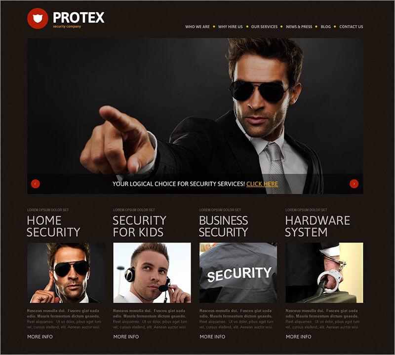 Security Responsive WP Theme