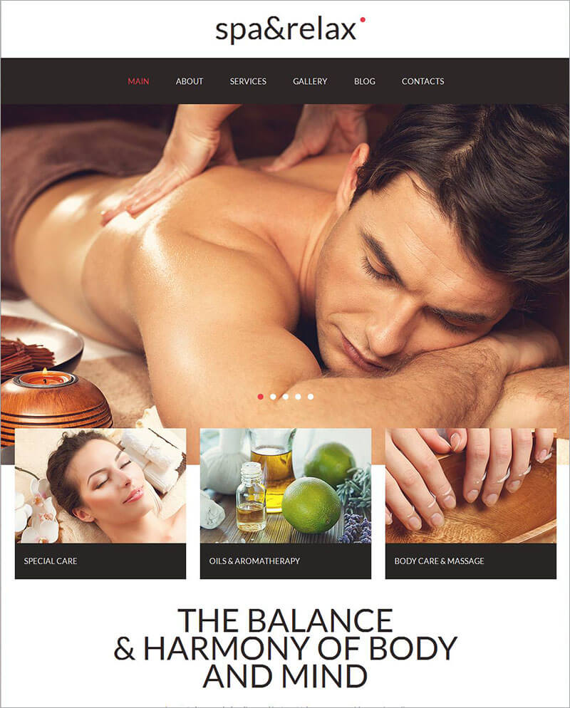 Spa Accessories Moto HTML Template