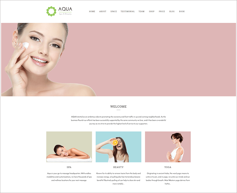 Spa and Beauty HTML Template