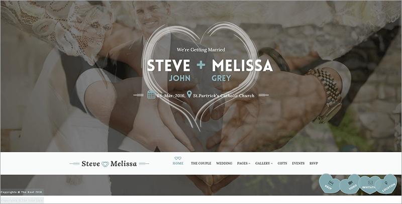 HTML Wedding Website Templates & Themes | Free & Premium ...