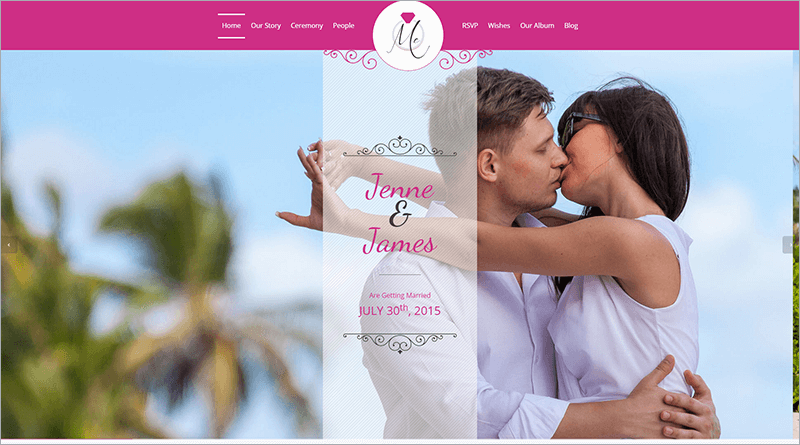 Wedding & Celebration HTML Template