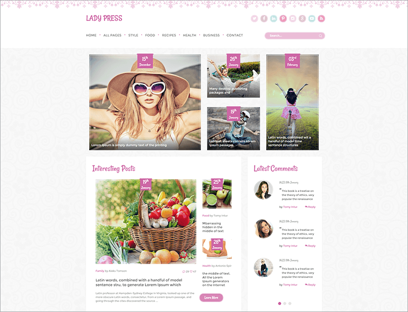 Woman Magazine Blog HTML Template