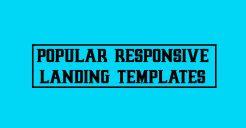11+ Popular Responsive Landing Page Templates