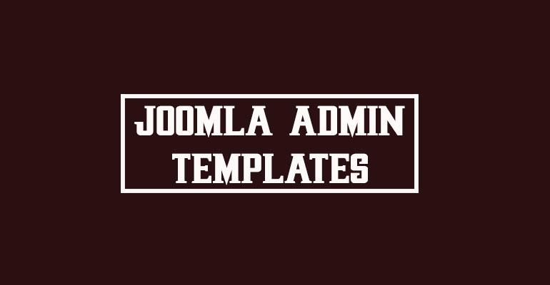 Joomla Admin Templates