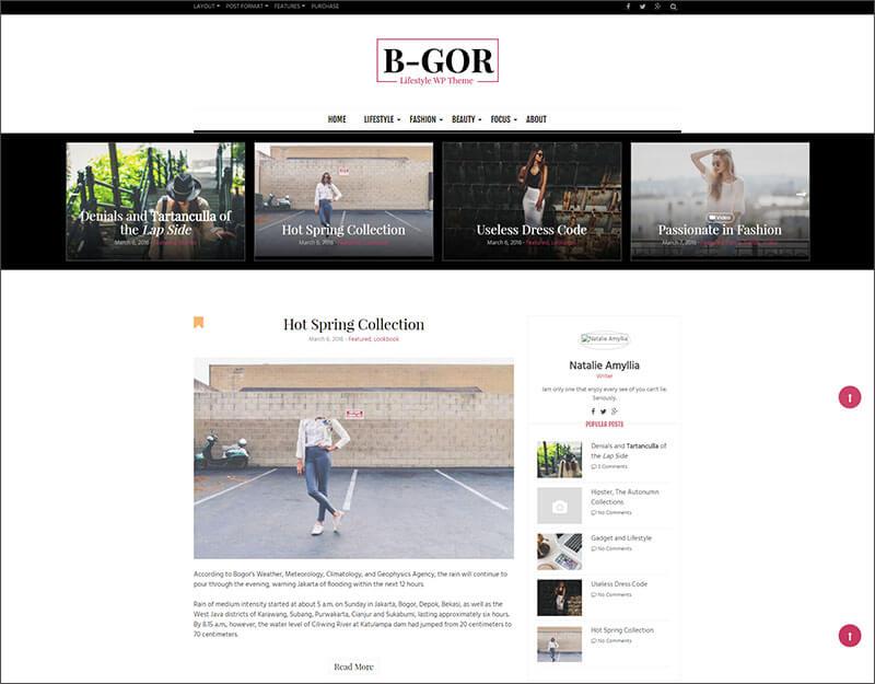 A Bootstrap Lifestyle WordPress Theme