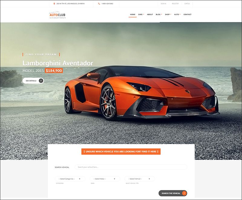 Auto Club - Responsive Car Dealer Drupal Theme