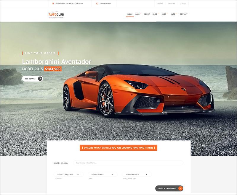 Auto Club - Responsive Car Dealer Drupal Theme