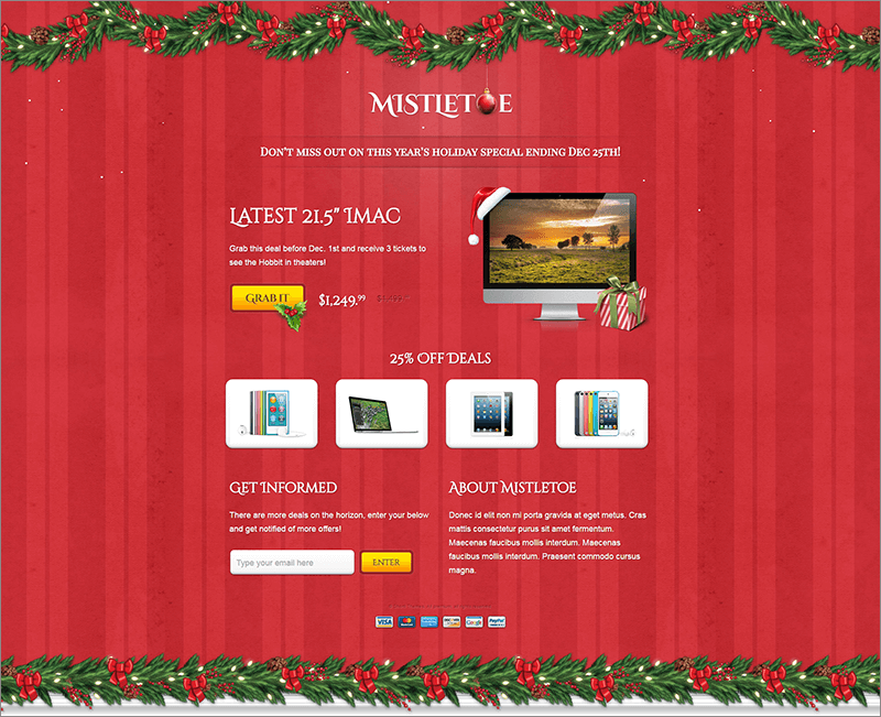 Christmas Special Landing Page Template