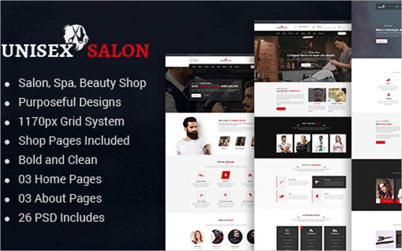 Hair Spa And Beauty Salon HTML Template