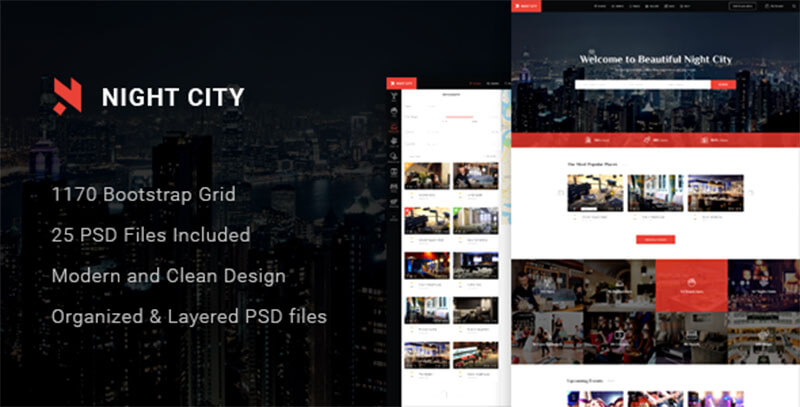 Multipurpose Geolocation Directory & Events PSD Template