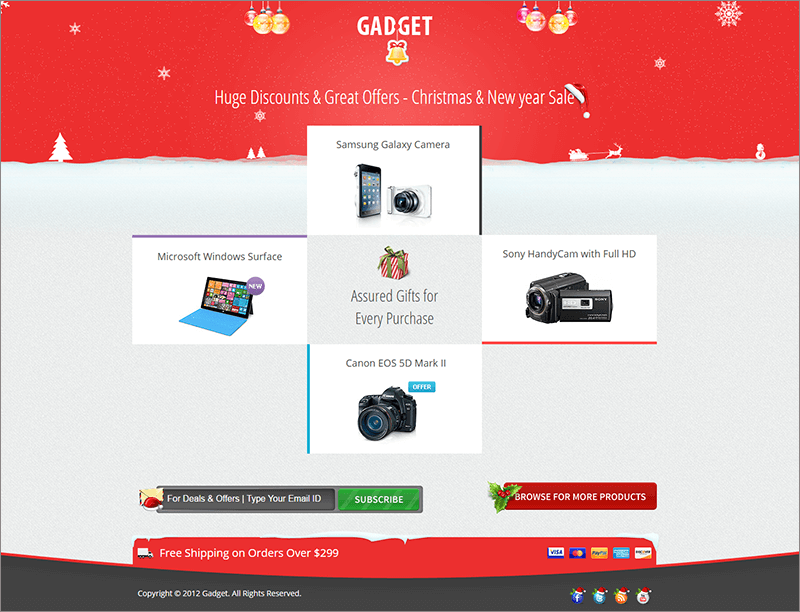 New Christmas New Year Landing Page