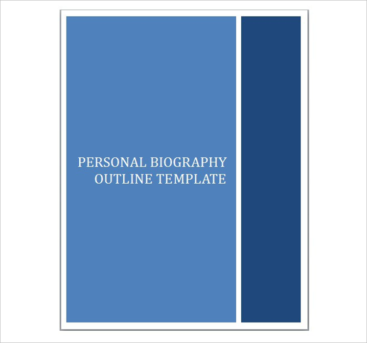 Biography Outline Template Sample