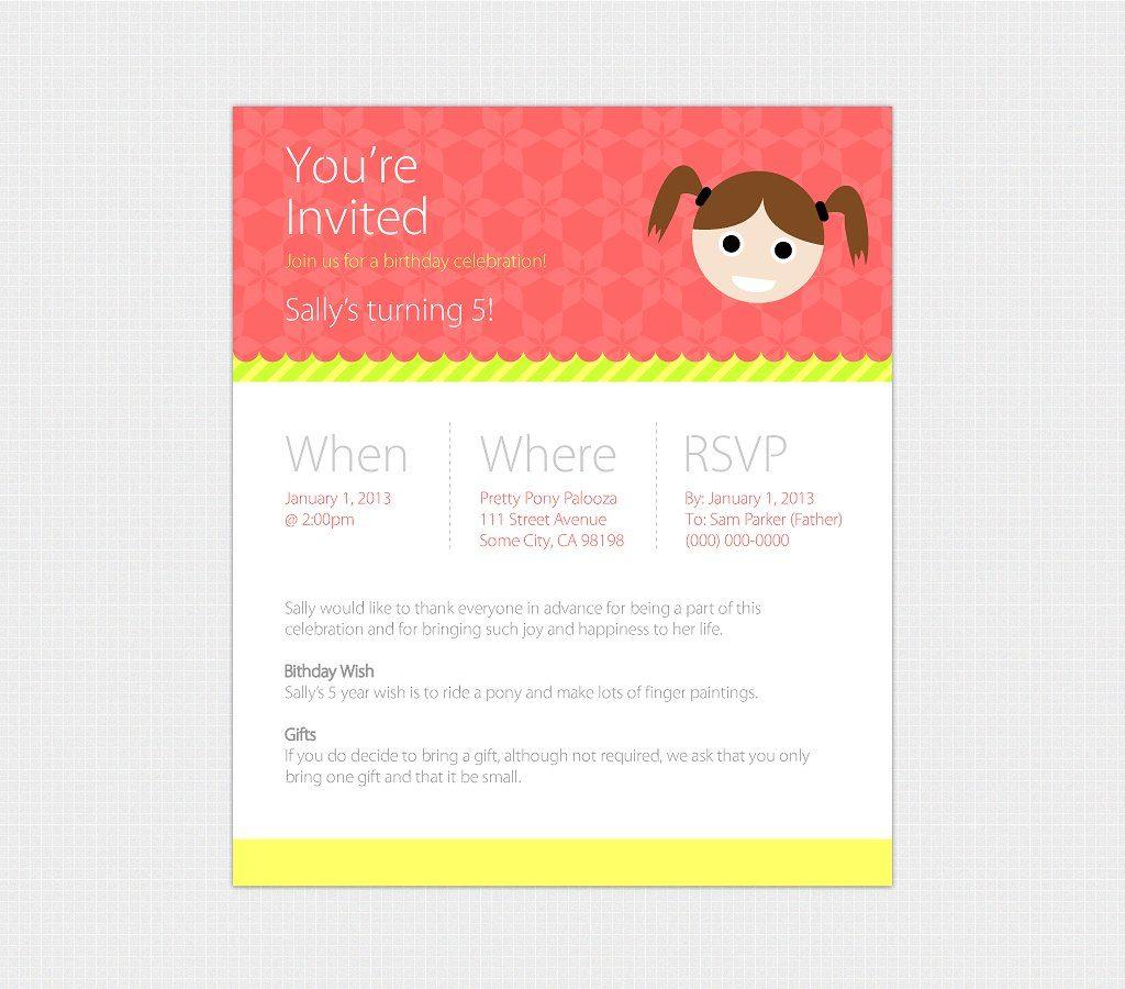 Birthday Evite Templates