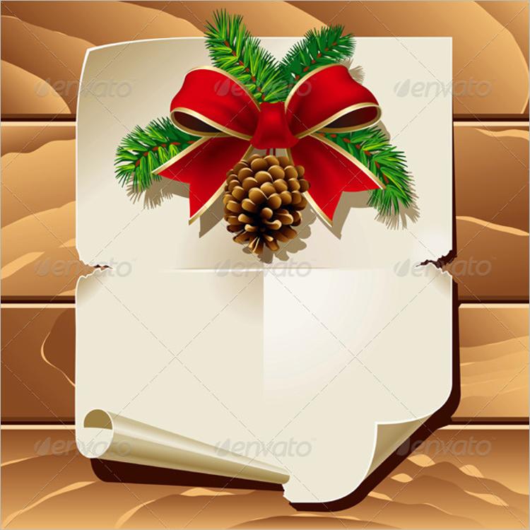 Blank Christmas Letter Template