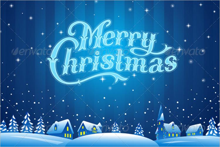 Christmas Lettering Design Idea