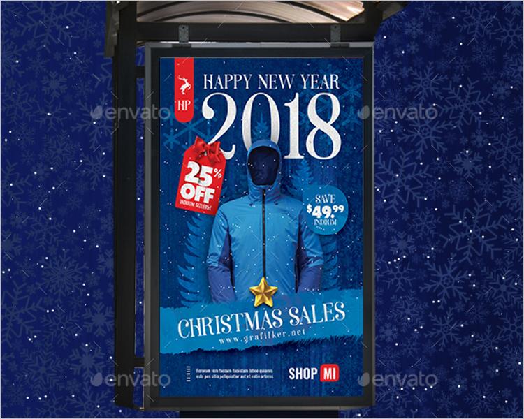 Christmas Poster Template Photoshop