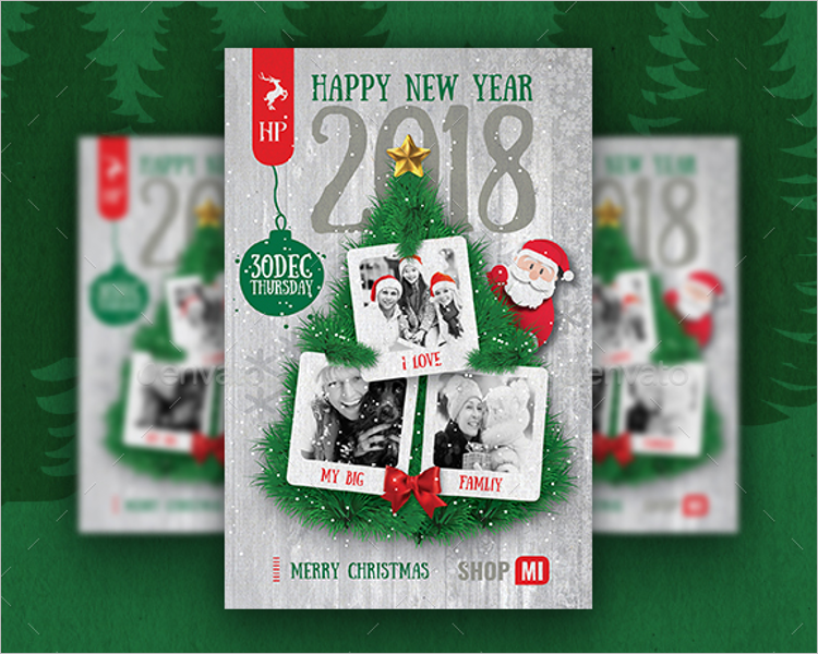 Christmas Sale Poster Template 2018