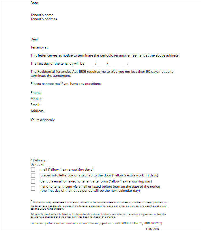 Commercial Lease Termination Letter Template