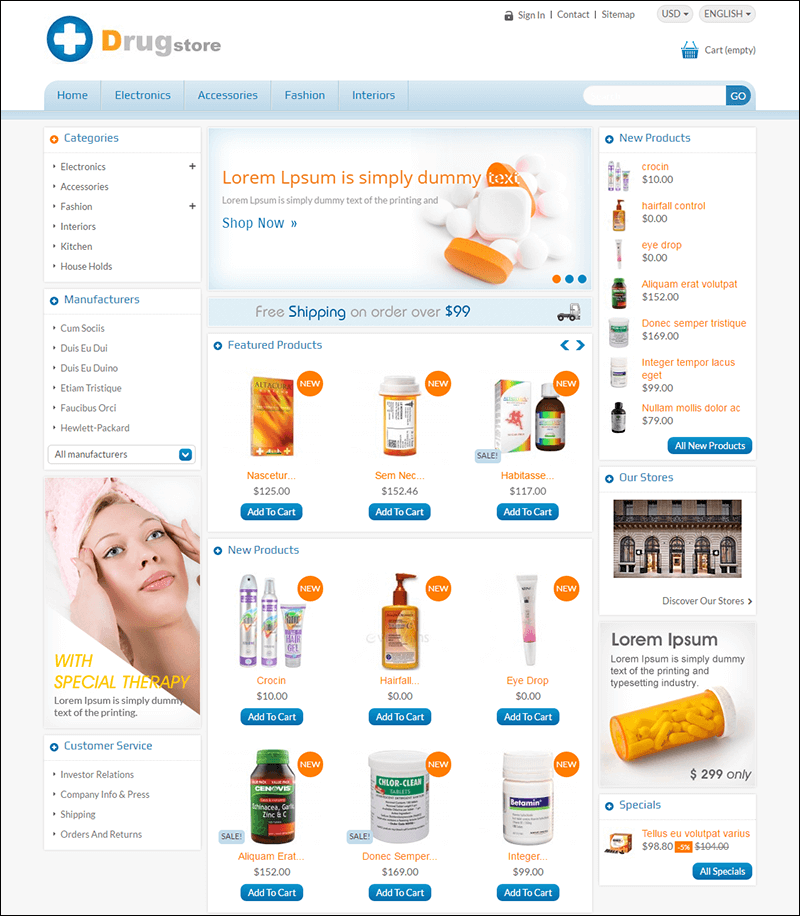 Drug Store – Responsive Prestashop Theme