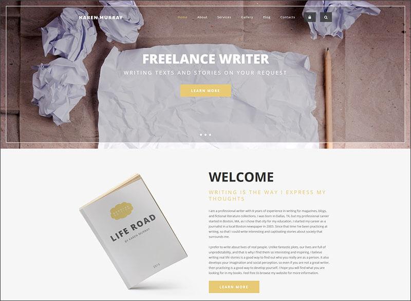Drupal HTML Template For Freelance Writer