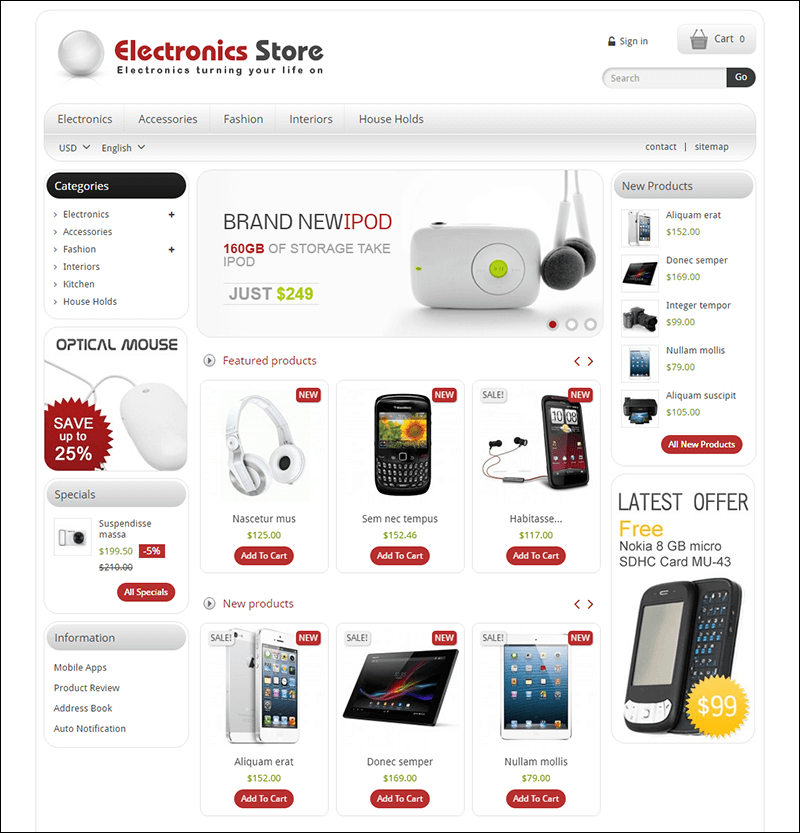 Electronics Shop – Prestashop Responsive Theme